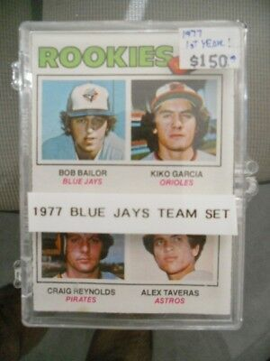 Toronto Blue Jays Topps cards rare first year team set 1977