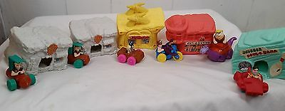 1993 Set of 5  Flintstones Houses And 5 Cars from McDonalds - Toys