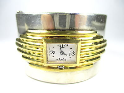 BIG Armbanduhr Vintage Armreif 80er Quarz bangle watch Modernist e n4