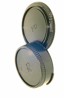 replacement  camera  Body & Rear lens cap , fits Canon FD mount 35mm SLR  film