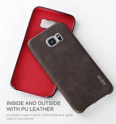 For Samsung Galaxy S7 Edge S8 S9 Plus X-Level New Leather Ultra Thin Back Cover