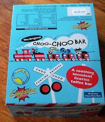 100 Choo Choo bars    2.0kgs in counter display boxes