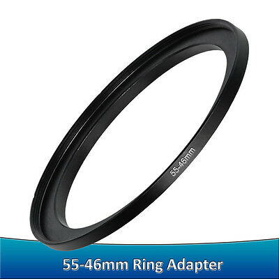 55-46mm Step-Down Metal Adapter Ring / 55mm Lens to 46mm Accessory