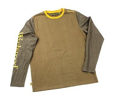 Wychwood NEW Carp Fishing Brown Duo Tone Long Sleeve T Shirt *All Sizes*