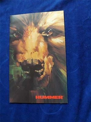 Hummer Sale Brochure Information Catalogue 1994 Specs Color Chart