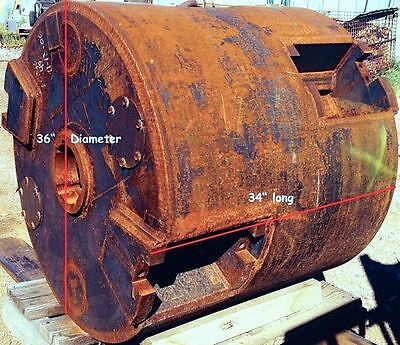 """Large Diameter 36"""" Coring Shell For Boring 3-foot-plus Holes Tunneling Mining"""