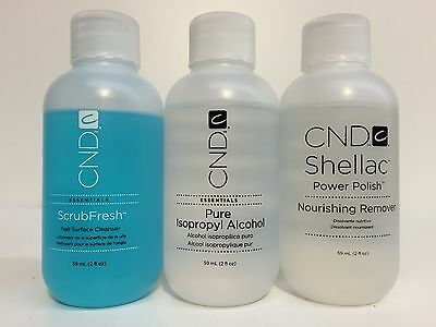 Cnd 59Ml Nourishing Remover / Scrubfresh / Pure Isopropyl Alcohol / Offly Fast