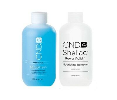 Cnd 100% Authentic 59Ml / 236Ml New Nourishing Remover & Scrubfresh