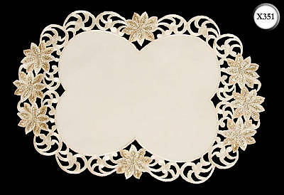 New Embroidered Christmas Place Setting Table Centre