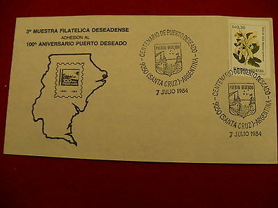Argentina 1984 First Day Cover 100 anniversary philatelic society P25