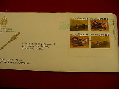 House of Commons day of issue Scott 562 563 block undeliverable mail office P30