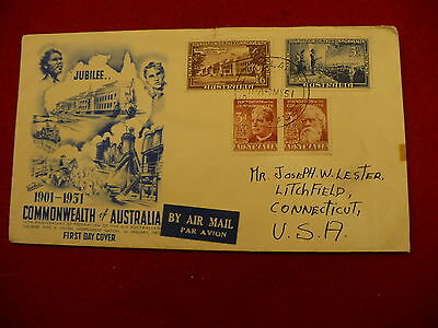 Commonwealth of Australia jubilee 50th anniversary 1951  FDC #093