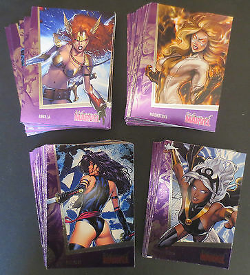 New 2013 Women Of Marvel Series 2 Complete Comic Trading Card Set , X Men
