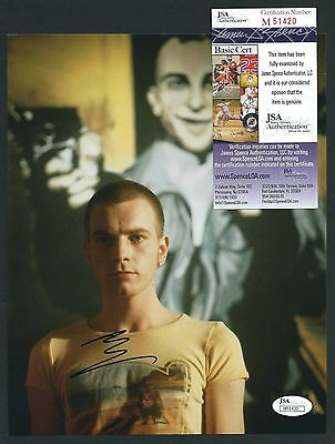 "Ewan McGregor signed 8""x10"" Photograph JSA Authenticated Trainspotting"