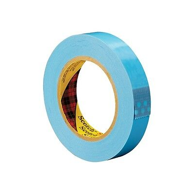 """""""3M 8896 Strapping Tape, 1/2"""""""" x 60 yds., Blue, 12/Case"""""""