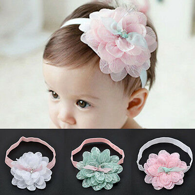 New Baby Girl Lace Flower Hair Band Headwear Kids Toddler Headband Accessories