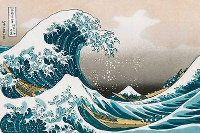 The Great Wave Of Kanagawa Poster HOKUSAI Brand New LARGE SIZE 61 cm X 91.5 cm