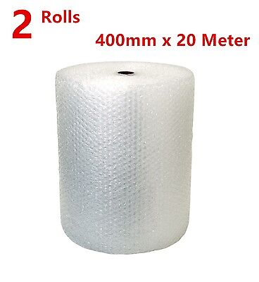 Rolls Bubble Wrap 400mm x 40 Meter White Clear Bubblewrap Packaging Protectivex2