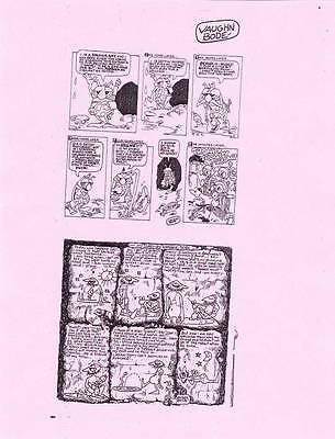 LOT ONE: Old style printing plate of VAUGHN BODE comic strips from the 1960s.