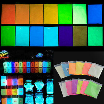1 bag luminous Fluorescent Super Bright Glow in the Dark Powder Glow Pigment DIY