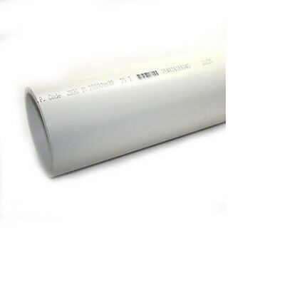 4 inch diameter Schedule 40 pvc dwv pipe (1 foot section)