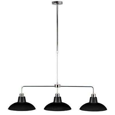 Modern Large Adjustable Chrome 3 Way Ceiling Pendant Bar Light Fitting Lamps NEW