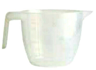 2 Litre / 3.5 Pints Clear Plastic Measuring Jug Half Handle