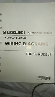 Suzuki Outboard Motor Wiring Diagrams All 2006 Models