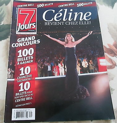 7 JOURS  Celine Dion ON COVER JULY 2008 CINDY CRAWFORD CLAUDE DUBOIS