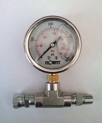 "pump pressure gauge 0-4000 psi 280bar 2 1/2"" 63mm paint sprayer,hydraulic gauge."