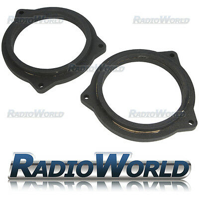 "BMW 5 Series e60 e61 MDF Speaker Front Rear 4"" Speaker Adaptors / Rings Spacers"