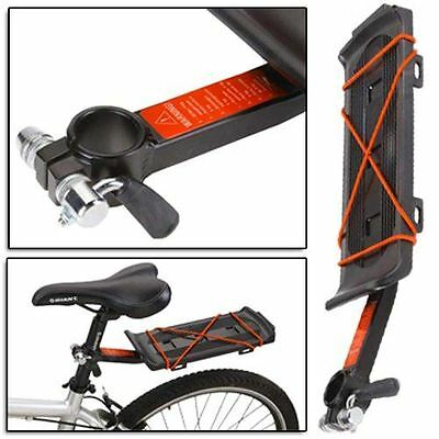 Bike Bicycle Cycle Bmx Seat Post Luggage Backpack Bag Pannier Rack Carrier Mount