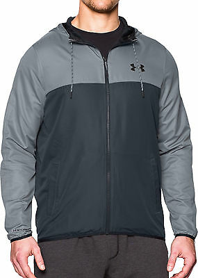 Under Armour Lightweight Mens Running Windbreaker Jacket - Grey
