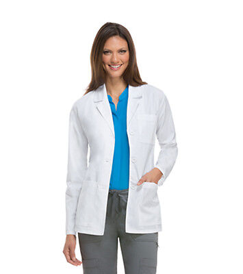 White Dickies EDS Certainty 28 Lab Coat 84401AB WHWZ Antimicrobial Fluid Barrier