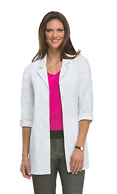 """White Dickies EDS Professional 3/4 Sleeve 31"""" Lab Coat 84407 DWHZ"""