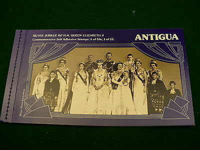 Antigua silver jubilee Queen Elizabeth stamp bookl 6 X .50 & 1 X $5.00 NEW P200