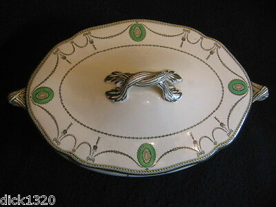 """VINTAGE ROYAL DOULTON 'COUNTESS' in GREEN 12"""" OVAL TUREEN LID ONLY c.1907-61 EX"""