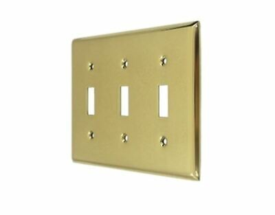 Switch Plate Triple Standard Solid Brass in 9 Finishes FPL Door Locks & Hardware