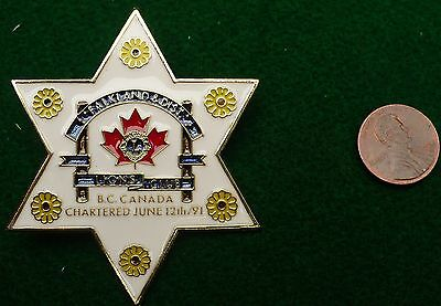 Falkland District Lions club chartered June 12 1991 pin star #MS