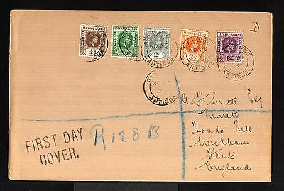 11280-LEEWARD ISLANDS -REGISTERED FDC.COVER  to HANTS (england)1938.WWII.BRITISH