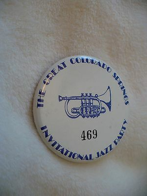 Vt- The Great Colorado Springs #469 Invitational  Jazz Party Pin Badge #48511