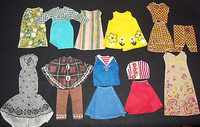 "Vintage 15 Pc LOT 11"" Fashion Doll Clothes Clothing Cut & Sew Free Barbie Tammy"