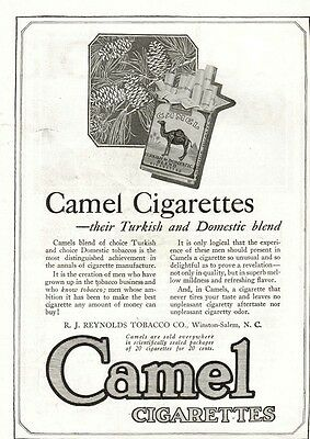 1920 Camel Cigarettes Advertisement (R.j. Reynolds Tobacco Company
