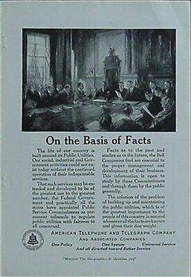1921 American Telephone & Telegraph (At&t) Bell System Advertisement