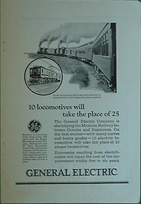 1925 General Electric Mexican Railway Electric Locomotives Advertisement