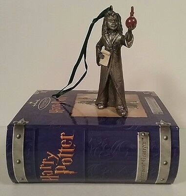Harry Potter Hallmark Keepsakes Pewter Hermione Granger Ornament Boxed Book NEW