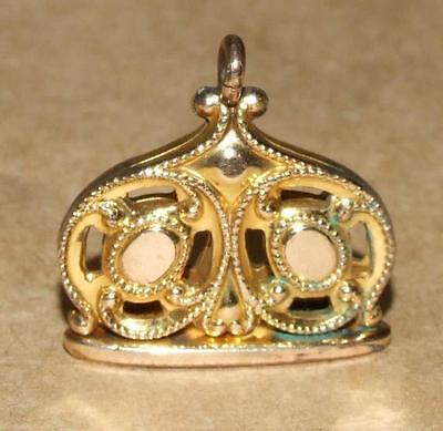 VTG Antique Victorian Ornate Gold Plate Filled Watch Chain Fob Wax Seal Pendant