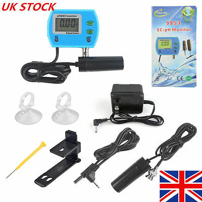2 in 1 Professional Water Quality Monitor pH / EC Meter Tester Tool for Aquarium