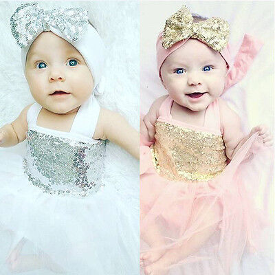 0-18 Months Newborn Baby Girls Princess Party Dress Tulle Gown Dresses Clothes