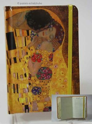 Address book Telephone book with Register KLIMT THE KISS Elasticated